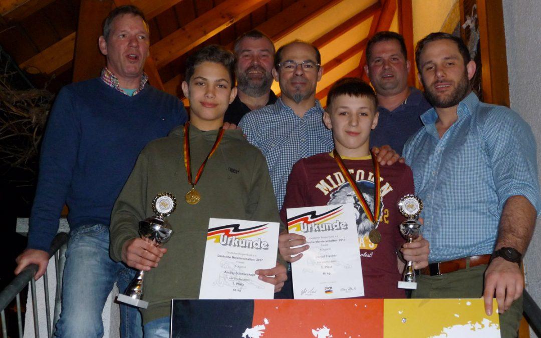 Deutscher Meistertitel für Andrej Schwarzkopf | Bronze für Daniel Fischer