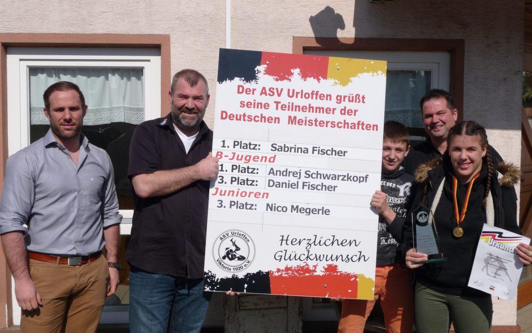 Gold für Sabrina Fischer bei Deutschen Meisterschaft