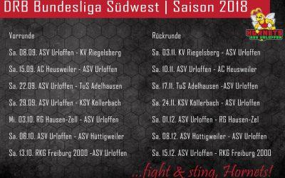 Termine: DRB Bundesliga Südwest | Saison 2018