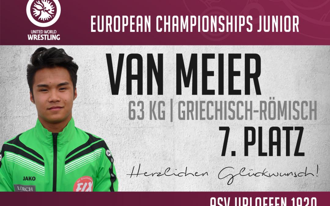 Van Meier erringt nach starker Leistung Platz 7 bei der EM in Rom