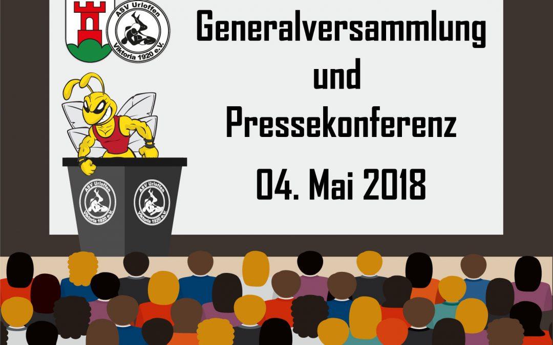 Generalversammlung und Pressekonferenz 04.05.2018