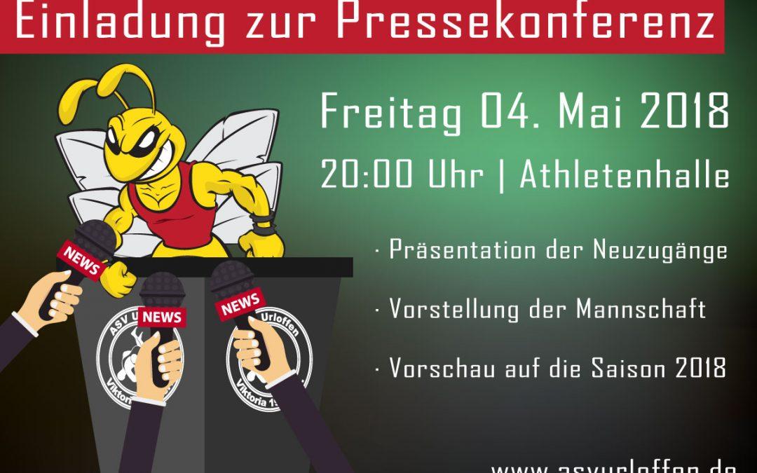 """+++ Morgen """"Öffentliche Pressekonferenz"""" zur Saison 2018 +++"""