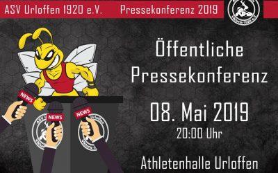 Generalversammlung und Pressekonferenz am 08. Mai 2019