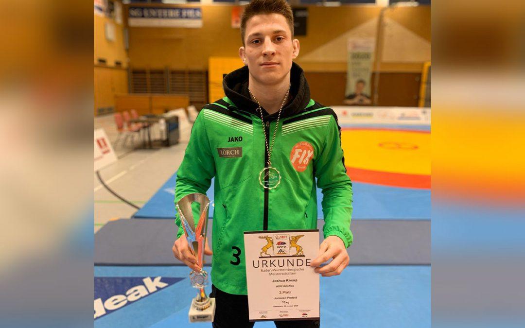 Joshua Knosp erringt Bronze bei den Baden-Württembergischen Meisterschaften
