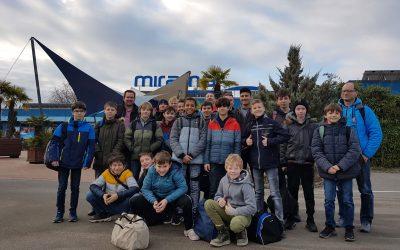 Nachwuchsteam-Hornets im Miramar Erlebnisbad in Weinheim