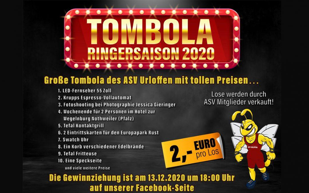ASV Tombola – Auslosung am 13.12.2020 auf Facebook