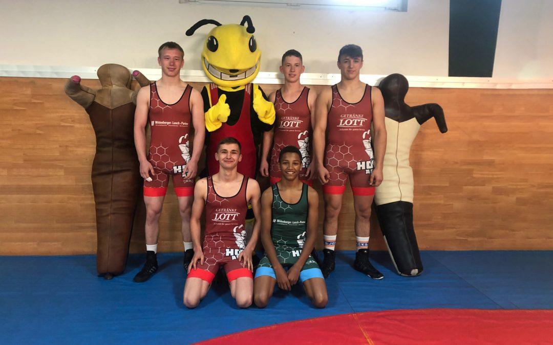 Deutsche Meisterschaft der A-Jugend mit fünf Ringer des ASV Urloffen