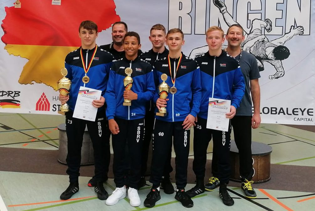 Ringer des ASV Urloffen holen kompletten Medaillensatz bei den Deutschen A-Jugend Meisterschaften