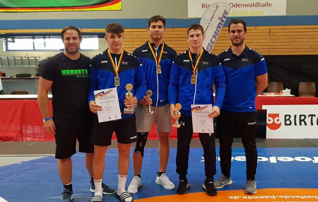 Drei Medaillen für Urloffener Ringer bei den Deutschen Meisterschaften