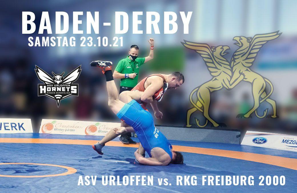 ASV Urloffen empfängt Freiburg zum Baden-Derby in der Ringerbundesliga